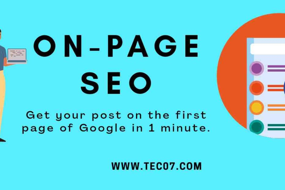 on-page SEO: Some easy methods for that you should know